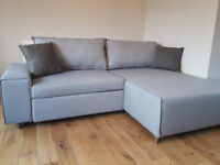 Corner sofa bed Mayne right hand grey MADE(.)COM brand / free delivery