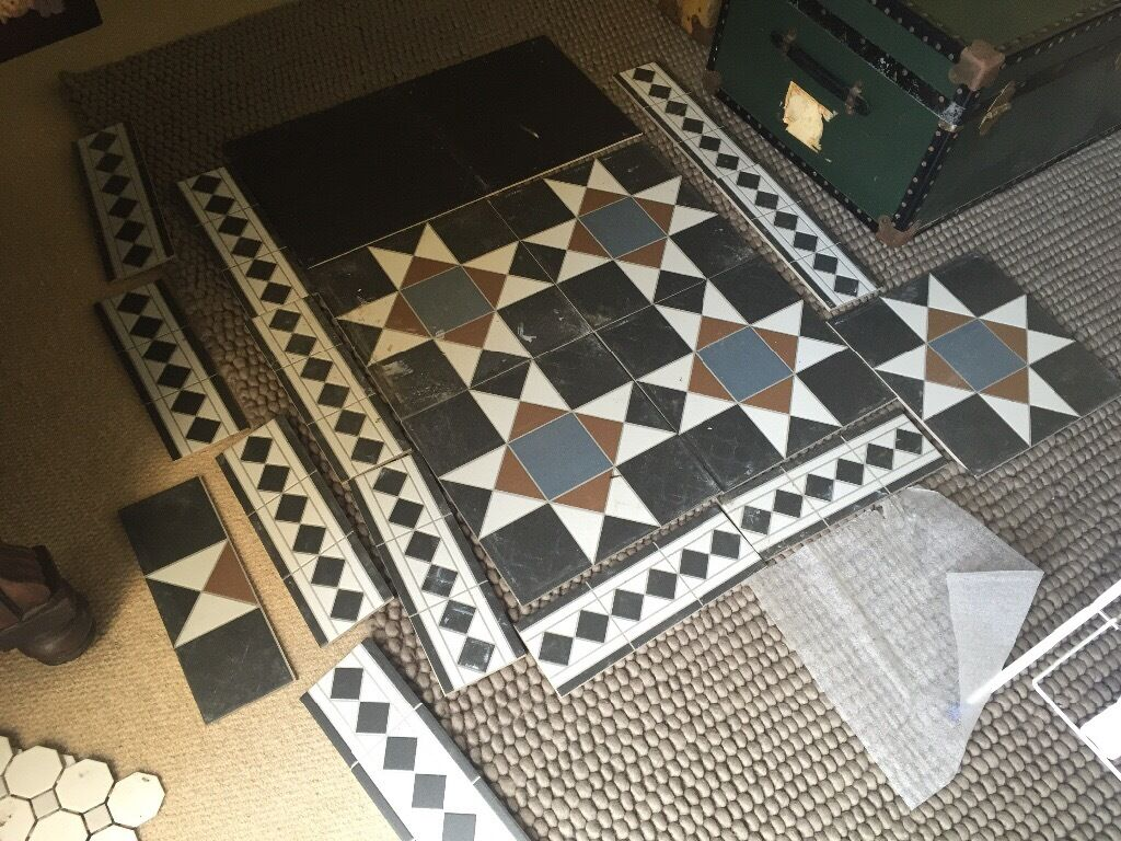 Tiles Porcelain Indoor Or Outdoor Grosvenor Topps Black Blue