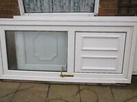 White External UPVC Glazed door.