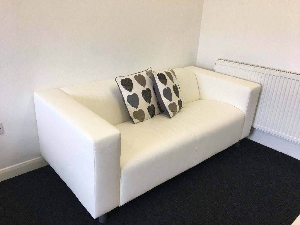 ikea klippan two seat sofa kimstad white in southampton hampshire gumtree. Black Bedroom Furniture Sets. Home Design Ideas