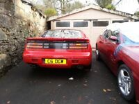 Red Nissan ZX300 Twin Turbo,Targa top for sale as restoration project
