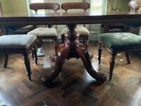 Antique Victorian Pedestal Antique Mahogany Table