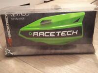 Racetech vertigo motocross/enduro handguards kx green
