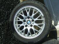 """BMW 16"""" ALLOY WHEELS BBS WINTER TYRES 5 X 120 3 5 7 SERIES 316 318 320 323 325 328 330 E36 E46 E38"""