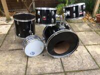 Wokingham Drum Sales - To Clear - Drum Kit - Black - Drums Only