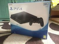 BRAND NEW Unopened Sealed Boxed Slim Jet Black PS4 (Playstation 4) 500GB