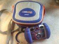 V-Tech Kiddi-zoom Twist camera blue, plus box and camera bag