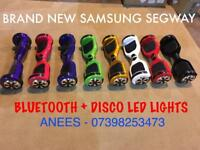 "BRAND NEW SAMSUNG 6.5"" SWEGWAY WITH BLUETOOTH & DISCO LED HOVERBOARD"