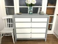 Oak chest of drawers free delivery Ldn shabby chic