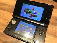Nintendo 3DS - Cosmos Black - Boxed with Mario and Zelda Games - 3 games