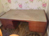 Large wood office desk