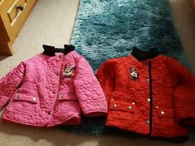 Girls Minnie mouse coats age 3-4