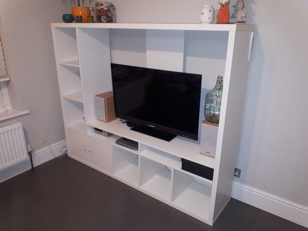 Ikea Lland Tv Unit White