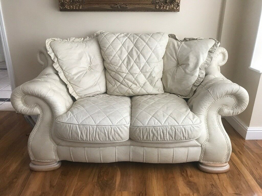 Outstanding Italian Leather Sofa Set 3 2 Seater And Footstool Pendragon Kara Suite In Leicester Leicestershire Gumtree Ibusinesslaw Wood Chair Design Ideas Ibusinesslaworg