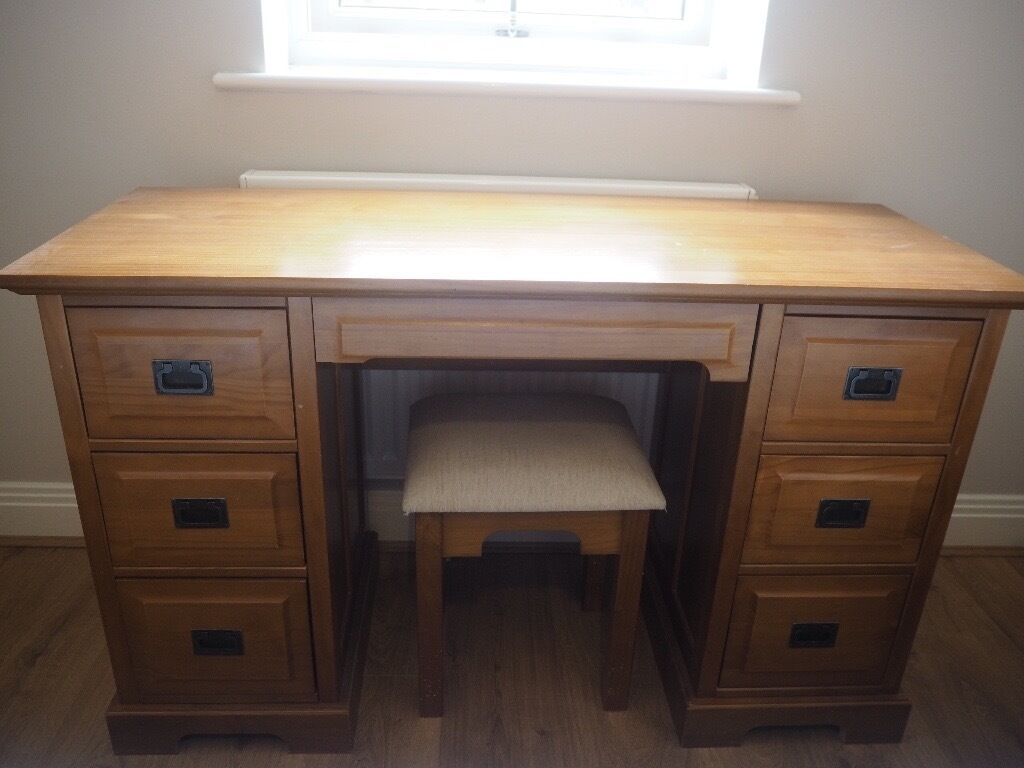 Wooden Dressing Table with Stool - Marks & Spencer