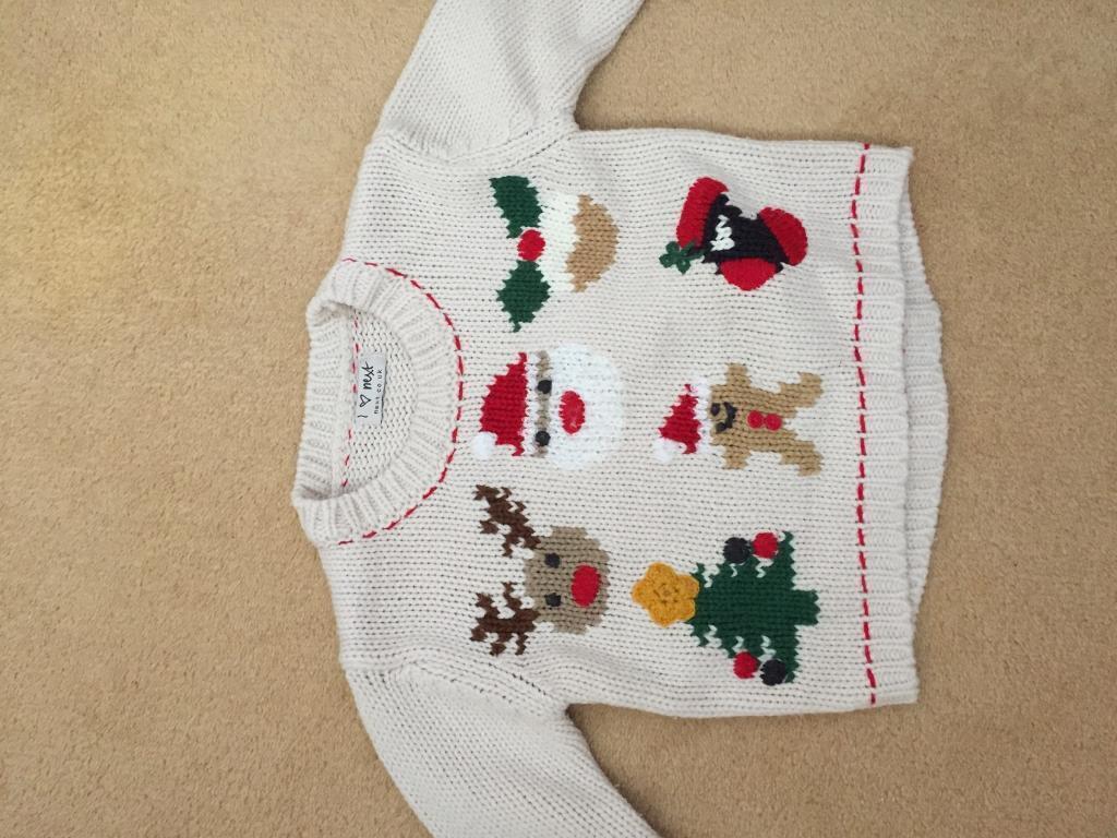 Next baby Christmas jumper12-18 mnths