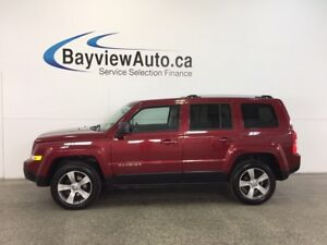 2017 Jeep PATRIOT HIGH ALTITUDE- 4x4|SUNROOF|HTD LTHR|U-CONNECT!