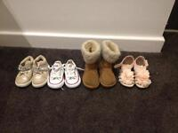 Toddler girls shoes. Sizes 3 to 5