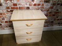 Bedside 3 drawer cabinet