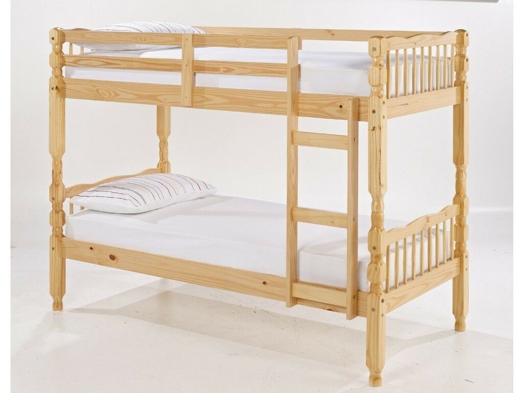 New New Quality Bunk Beds White Natural Free Delivery West London