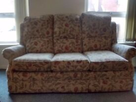 3 seater sofa with matching chair - immaculate condition