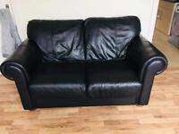 Black Italian leather suite