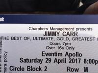 JIMMY CARR LIVE TICKETS TONIGHT