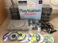 PS1 PlayStation 1 Console 37 Games 2 Controllers Boxed