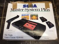 Sega Master System Boxed With Controllers and 2 Built in Games
