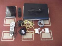 Sky HD Box With Remote, Router and Accessories