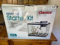 Starter Fish Tank with heater and Gravel