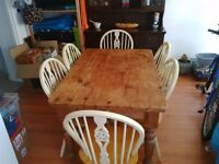 Antique pine dining table - selling due to moving