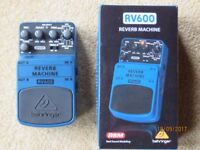 RV600 Behringer Reverb pedal. Hardly used. Original packing. Free postage.