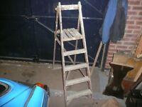 Vintage Wooden Step Ladders