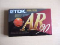 LOT 6 - THREE NEW TDK AR90 AUDIO CASSETTE TAPES - see description
