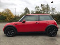 "EXCELLENT CONDITION, LOW MILEAGE, RED MINI COOPER WITH CHILI PACK & GLOSS BLACK 17"" S-SPOKE ALLOYS"