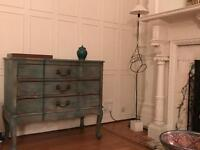 Beautiful authentic brushed wood chest of drawer