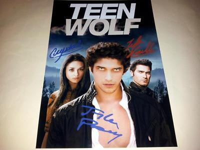 """TEEN WOLF CAST PP SIGNED A4 12""""X8"""" PHOTO POSTER TYLER POSEY CRYSTAL REED RP N2"""