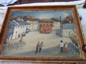 old painting of LlanfairTH Abergele