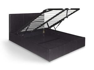 California Gas-Lift Bed Frame LBD020(Double /Queen, Black /White) Dandenong South Greater Dandenong Preview