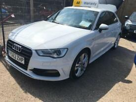 AUDI A3 2.0 TDI S LINE 3d 148 BHP Apply for finance Online today! (white) 2013