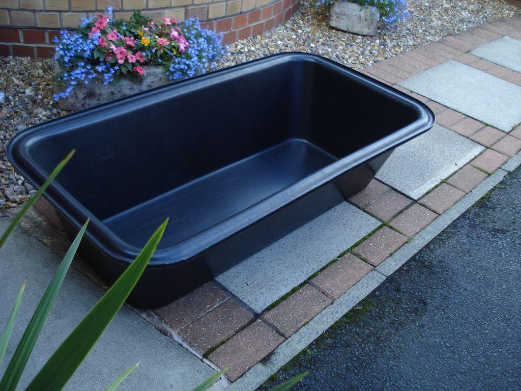 BLACK DEEP PLASTIC WATER DOG ANIMAL BATH TUB 125 LTR GROOMING WATER ...