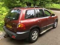 2003 Hyundai Santa Fe 4x4 2.0 CRTD GSI - MOT TAX good tyres, recharged aircon, recent clutch, towbar