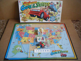 "Geo Safari ""GAME OF THE STATES"" board game. MB Games 1995. Complete."