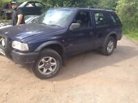 1996 VAUXHALL FRONTERA TURBO DIESEL NO MOT 4X4 spares and repairs
