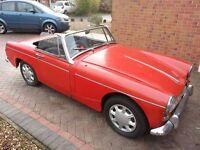 MG Midget 1965 Mk II 2 Classic Sports Convertible Car Free Road Tax