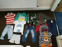Bundle of boy's clothes Brand New With Tags (various sizes 12 months to 3 years)