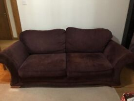 Purple 3 seat sofa