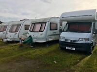 Wanted caravans and moterhomes and campers all makes and models damp or Damage not a problem
