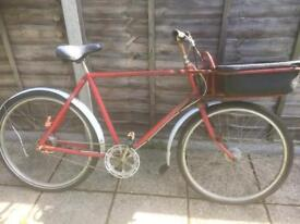 Old postman's/ tradesmans bike ideal restoration project